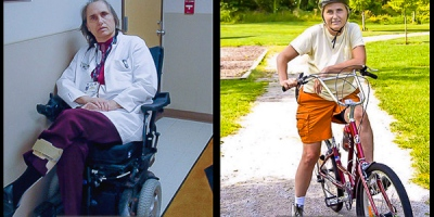 Multiple sclerosis sufferer Terry Wahls before and after she committed to her healing diet. Impressive, isn't it?